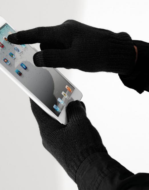 Beechfield Rukavice pro dotykové telefony Beechfield Černá S/M