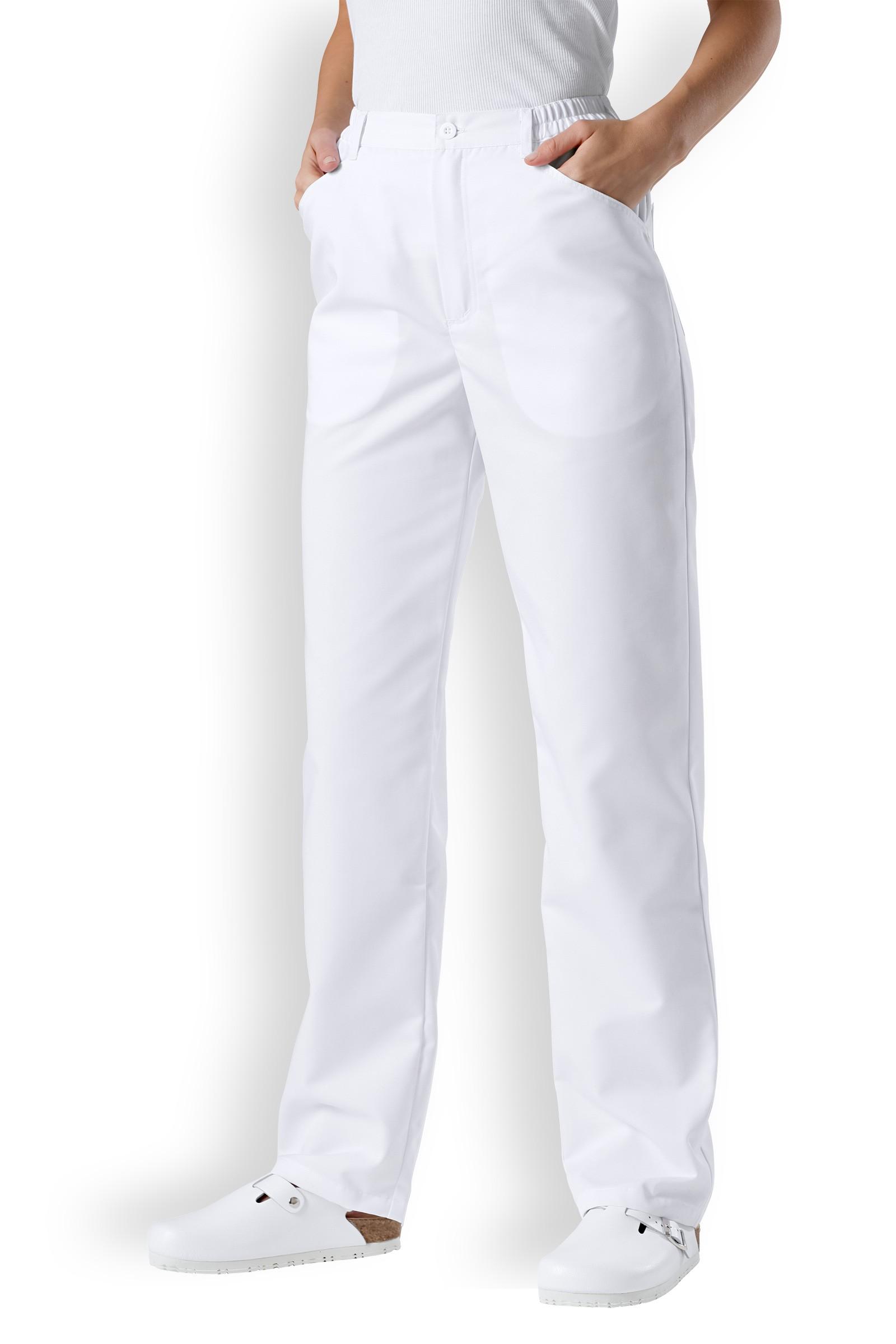 Clinic Dress Dámské dlouhé kalhoty Clinic Dress ze směsové tkaniny Bílá 38
