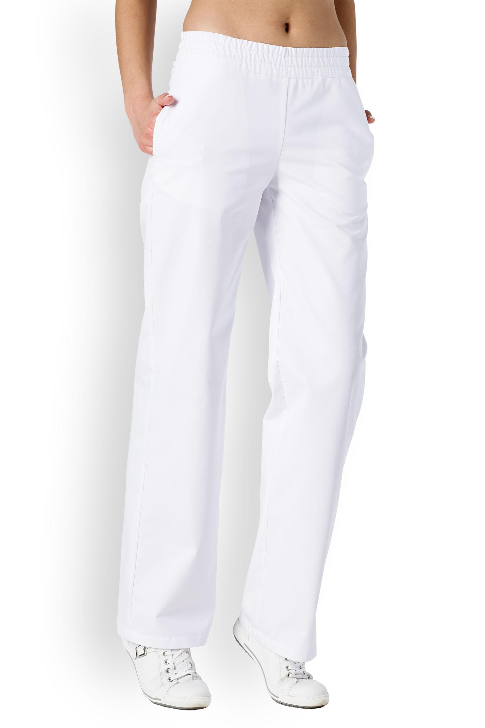 Clinic Dress Dámské dlouhé kalhoty Clinic Dress Bílá 40