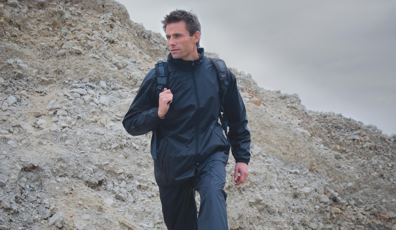 Result Pánská pláštěnka Weatherguard™ s kapucí Result Černá S / M