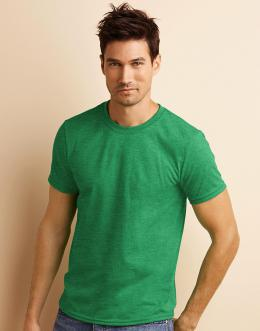 Gildan Pánské triko s krátkým rukávem Gildan Fialový melír S