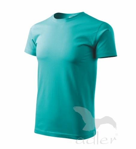 Adler Unisex triko s krátkým rukávem Adler Basic Azurová XXXL