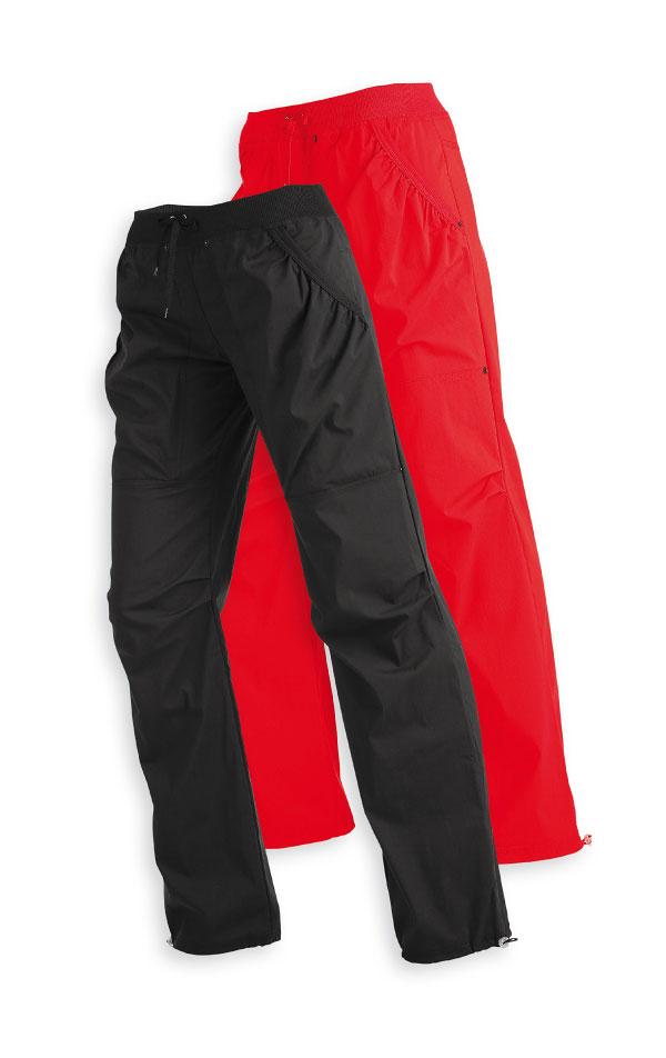 LITEX Kalhoty dámské dlouhé bokové Litex 520 Červená L