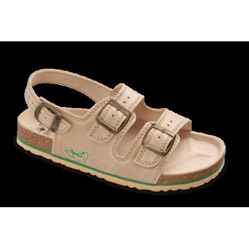 Jasný Zdravotní sandále rovné Béžová 35