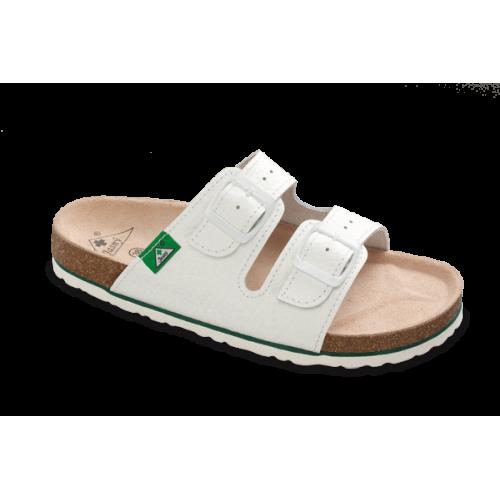 Jasný Zdravotní pantofle rovné Bílá 35