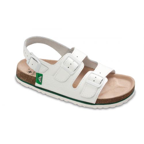 Jasný Zdravotní sandále rovné Bílá 35