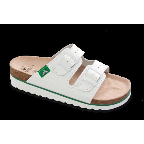 Jasný Dámské zdravotní pantofle na klínku Bílá 35