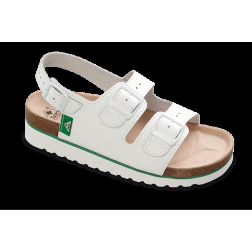 Jasný Dámské zdravotní sandále na klínku Bílá 35