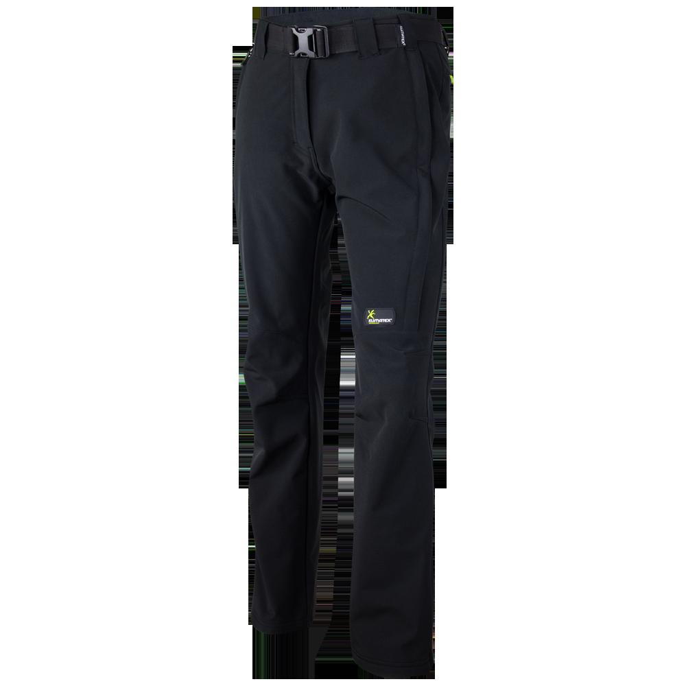 KLIMATEX Dámské softshellové zimní kalhoty LAINIO Klimatex Černá M