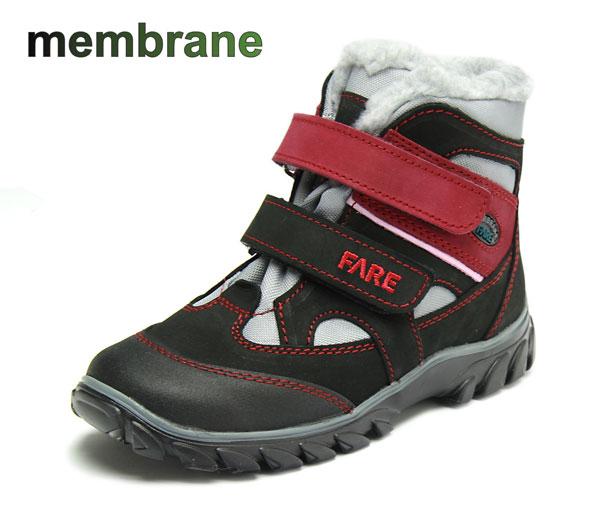 Fare Unisex zimní trekové boty Fare 2644291 Černá / Vínová 31