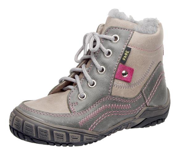 Fare Dětská zimní kotníčková obuv Fare 845161 Šedá / Růžová 29
