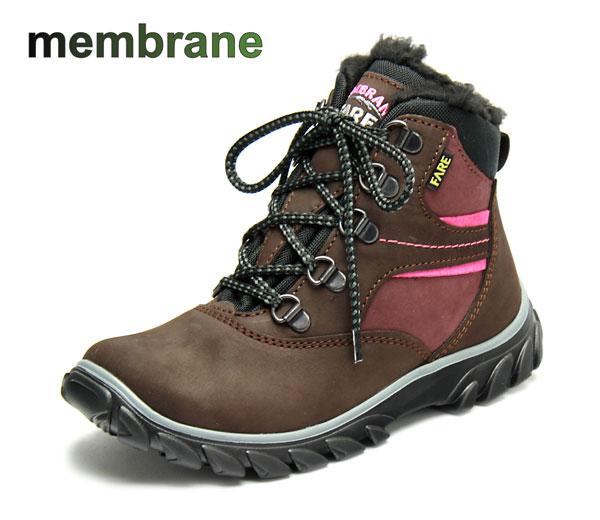 Fare Dívčí zimní trekové boty Fare 2642222 Hnědá 32