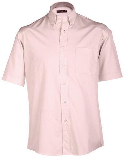 James & Nicholson Pánská košile s krátkým rukávem James & Nicholson JN065 Přírodní S
