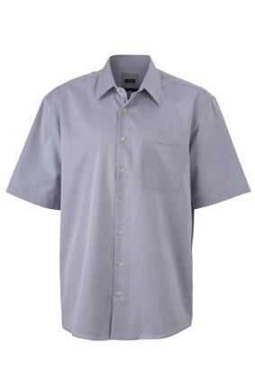 James & Nicholson Pánská košile s krátkým rukávem James & Nicholson JN062 Černá S