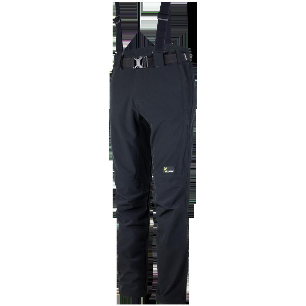 KLIMATEX Pánské softshellové zimní kalhoty LESSER Klimatex Černá M