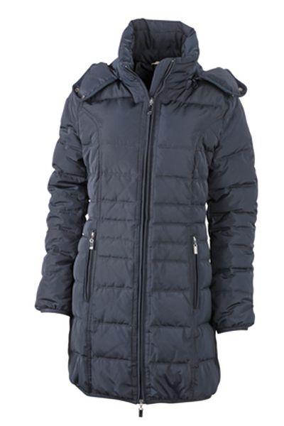 James & Nicholson Dámský zimní kabát James&Nicholson JN1085 Černá S