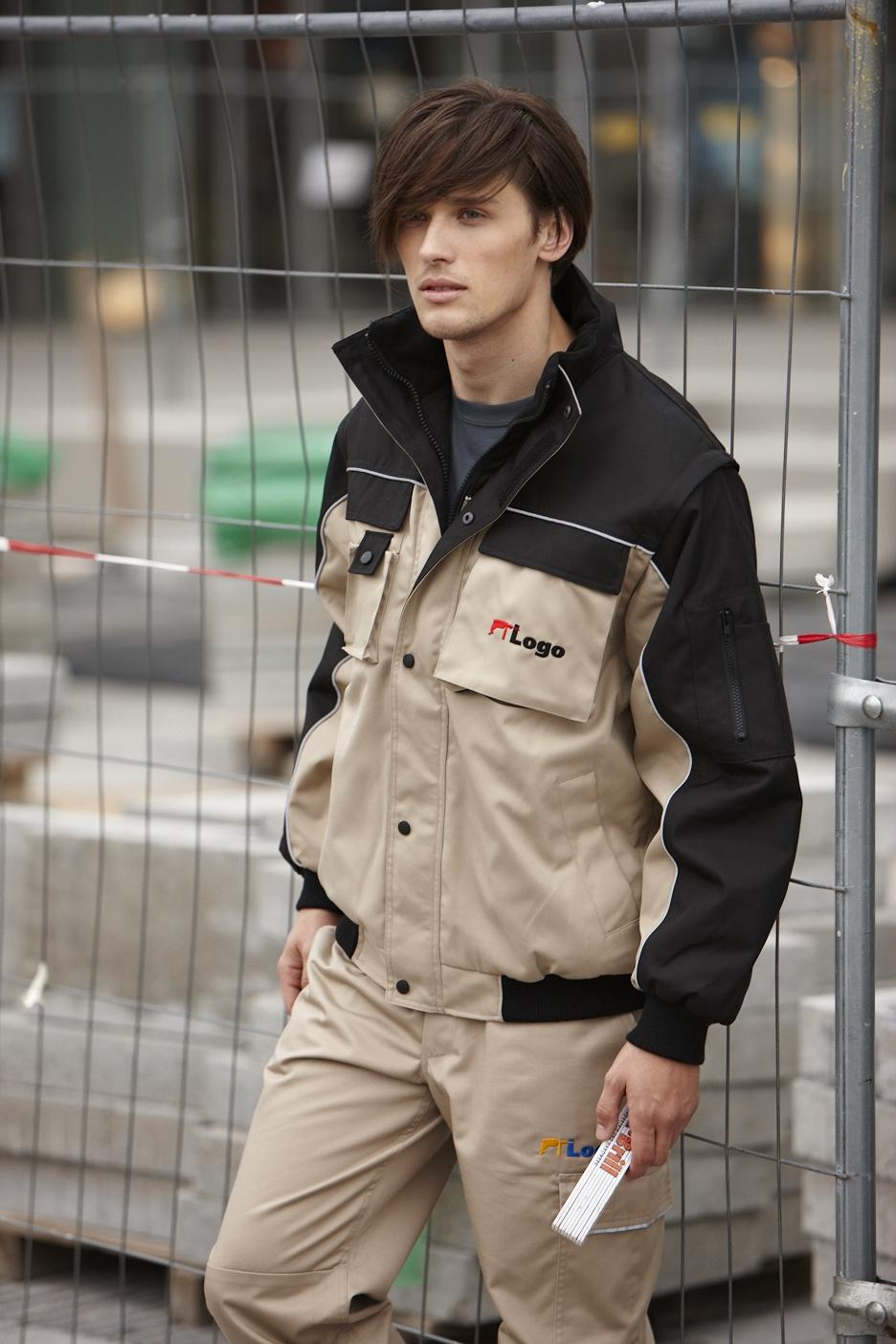 James & Nicholson Pánská pracovní bunda bunda James & Nicholson JN810 Černá S