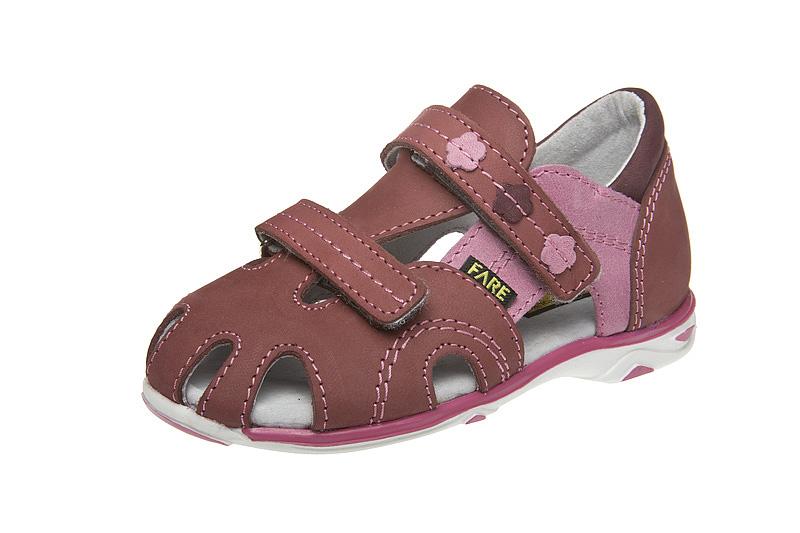 Fare Dětská letní obuv Fare Vínová 23