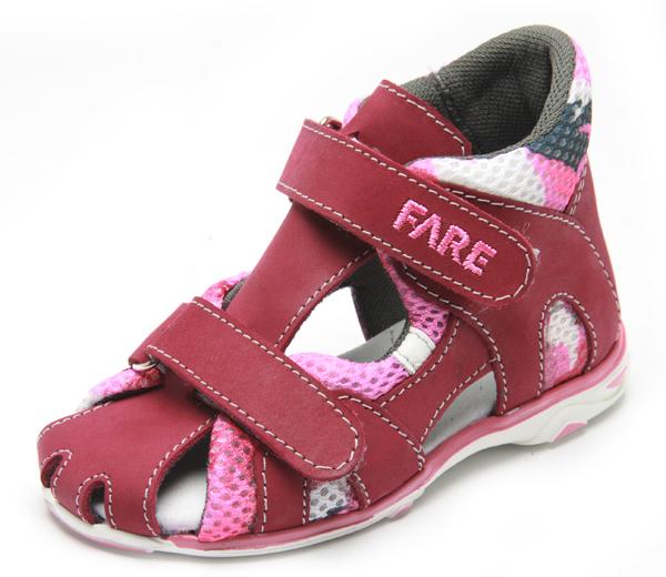 Fare Dětské sandály Fare 763291 Vínová 26