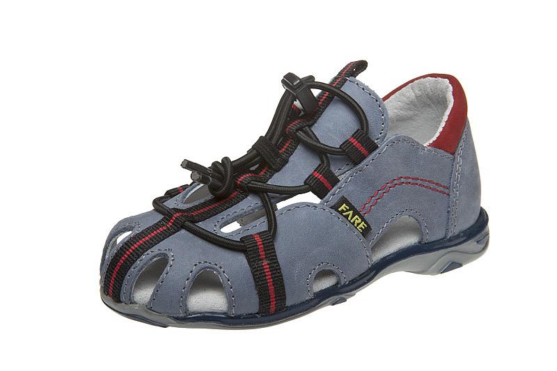 Fare Dětské sandály Fare 764101 Šedomodrá 26