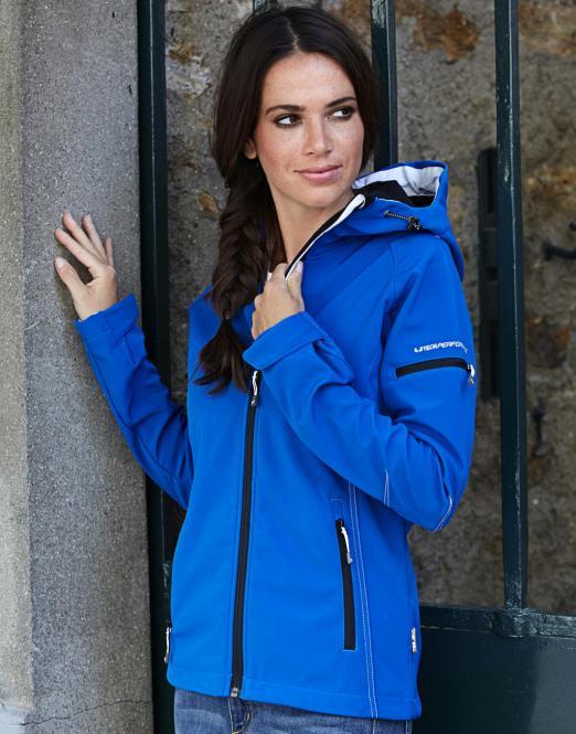 Tee Jays Dámská softshell bunda s kapucí Fashion Tee Jays Černá S