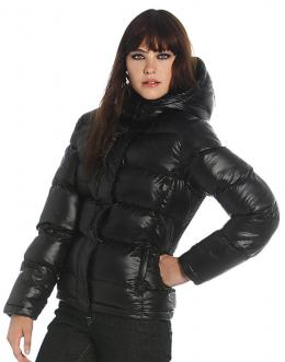 B&C Dámská zimní bunda Down B&C Lesklá černá XS