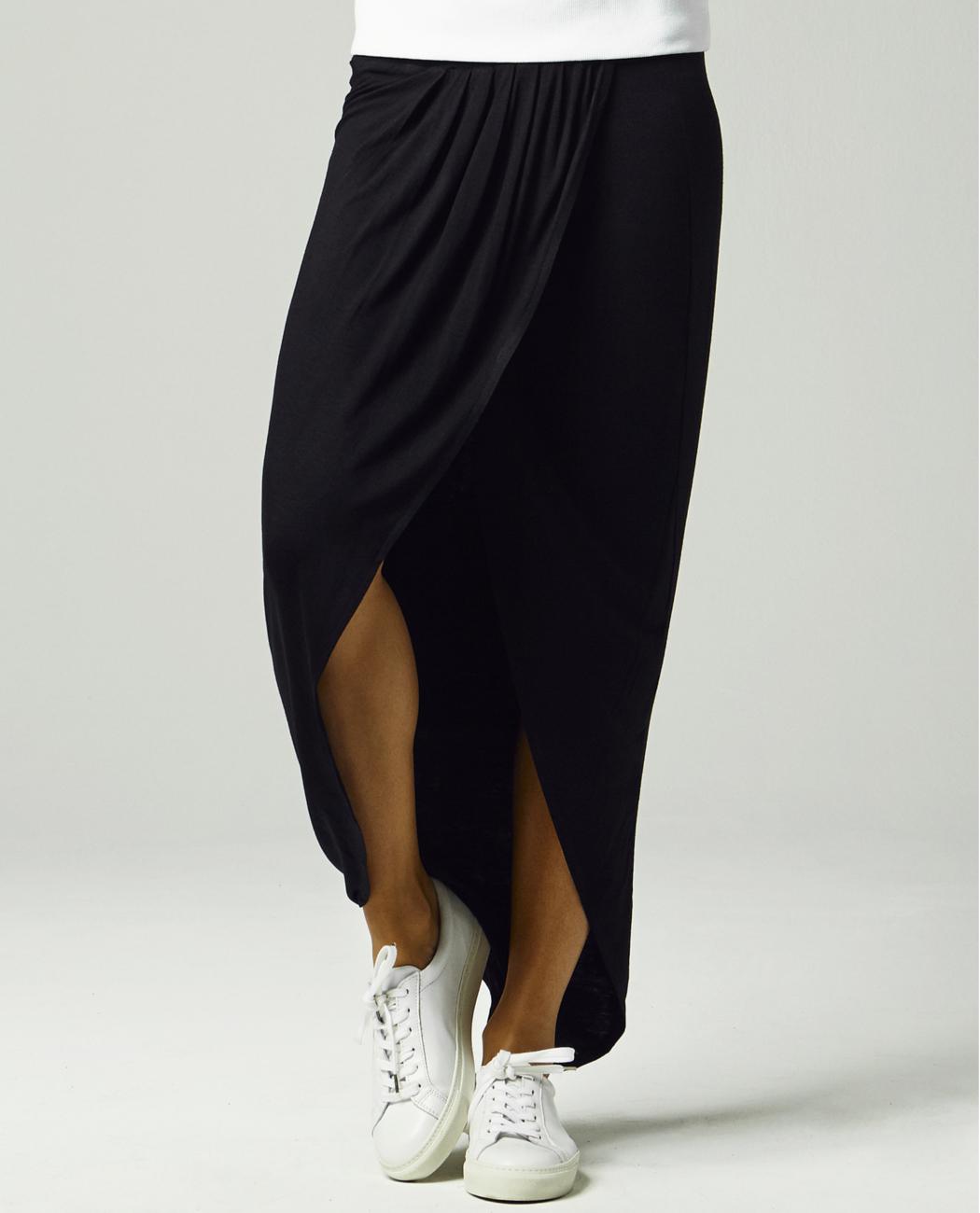 Urban Classics Dámská dlouhá sukně URBAN CLASSICS TB1043 Černá XS
