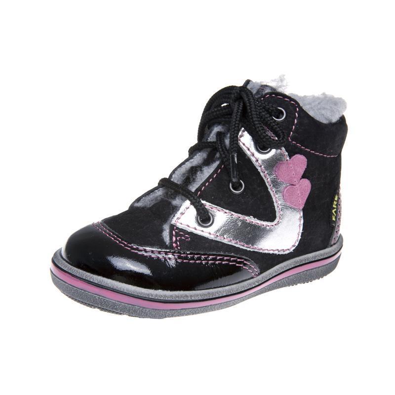 Fare Dětská obuv zimní 2144211 FARE Černá / Stříbrná 19