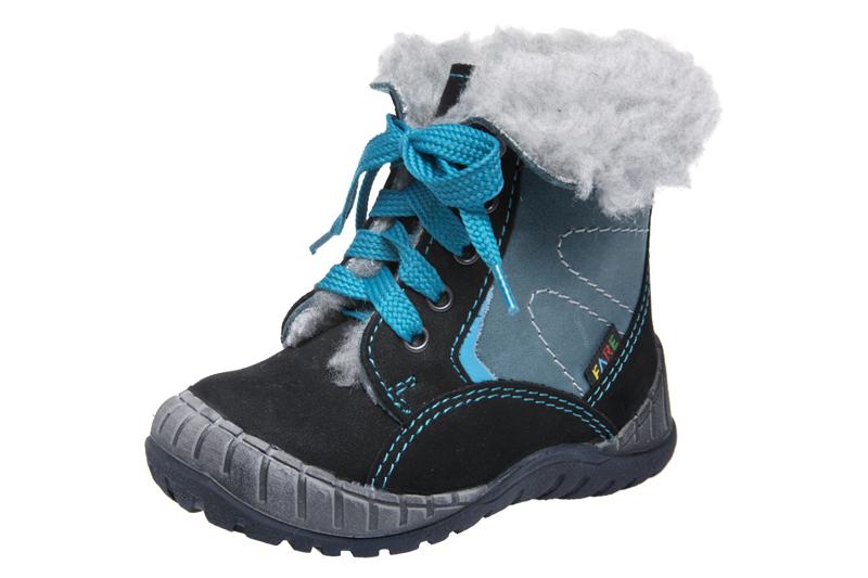Fare Dětská obuv zimní 2145211 FARE Modrá / Černá 19