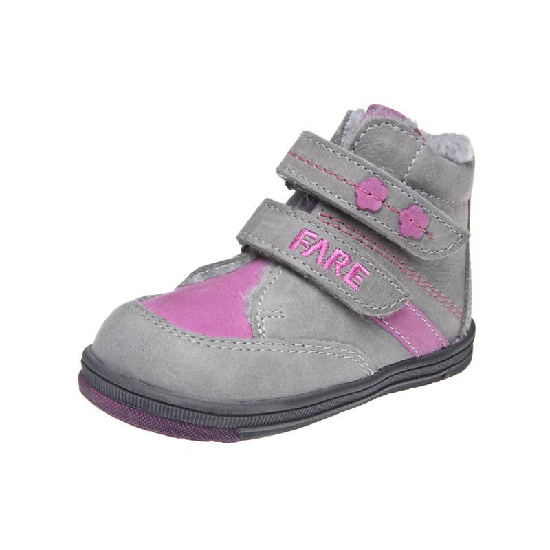 Fare Dětská obuv zimní 2147151 FARE Šedá / Růžová 19