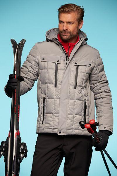 James & Nicholson Pánská zimní bunda s kapucí James & Nicholson JN1102 Bílá / Černá S