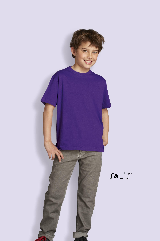 Sols Dětské triko s kulatým výstřihem a krátkým rukávem Sol´s - Regent kids Modrá Aqua 4 roky (96 - 104 cm)