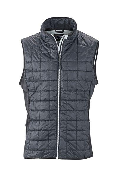 James & Nicholson Pánská prošívaná vesta James & Nicholson JN1114 Stříbrná S