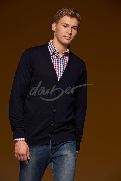 James & Nicholson Pánský svetr s knoflíky James & Nicholson JN668 Antracitová S