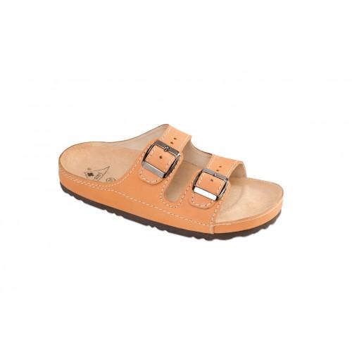 Jasný Zdravotní pantofle Exclusive natural 35