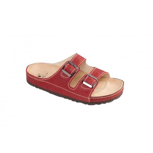 Jasný Zdravotní pantofle Exclusive Vínová 35