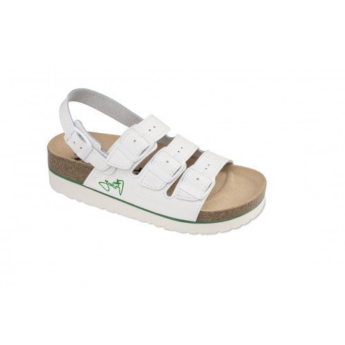 Jasný Zdravotní sandále na klínku třípáskové Bílá 35