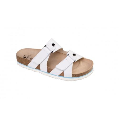 Jasný Zdravotní pantofle rovné Jasný Bílá 35