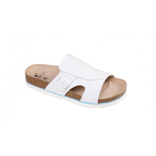 Jasný Zdravotní pantofle rovné Milano Bílá 35