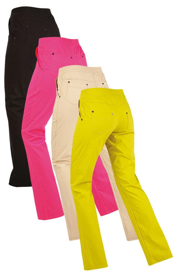 LITEX Dámské kalhoty bokové Litex 89171 Žlutozelená S
