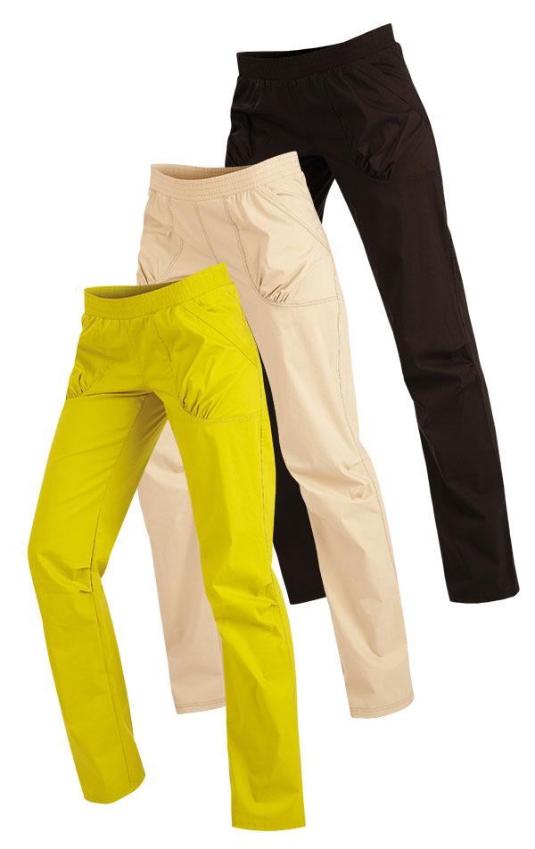 LITEX Dámské kalhoty bokové Litex 89173 Žlutozelená S