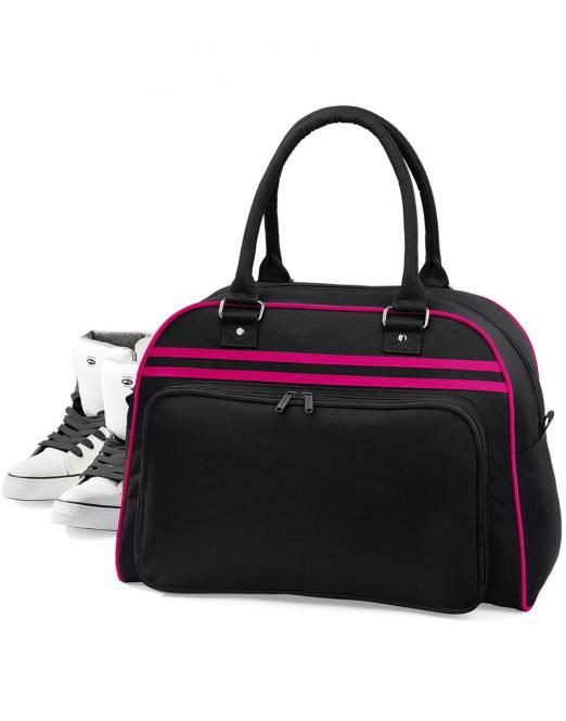 Bag Base Taška retro Bowling BAG BASE Černá / Bílá