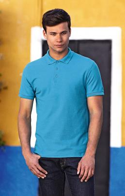 Fruit of the Loom Pánské polo triko s límečkem Fruit of the Loom Premium Polo Bílá S