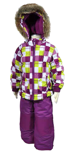 Bugga Dívčí lyžařský set v moderní barevné kombinaci Bugga Fialová 98