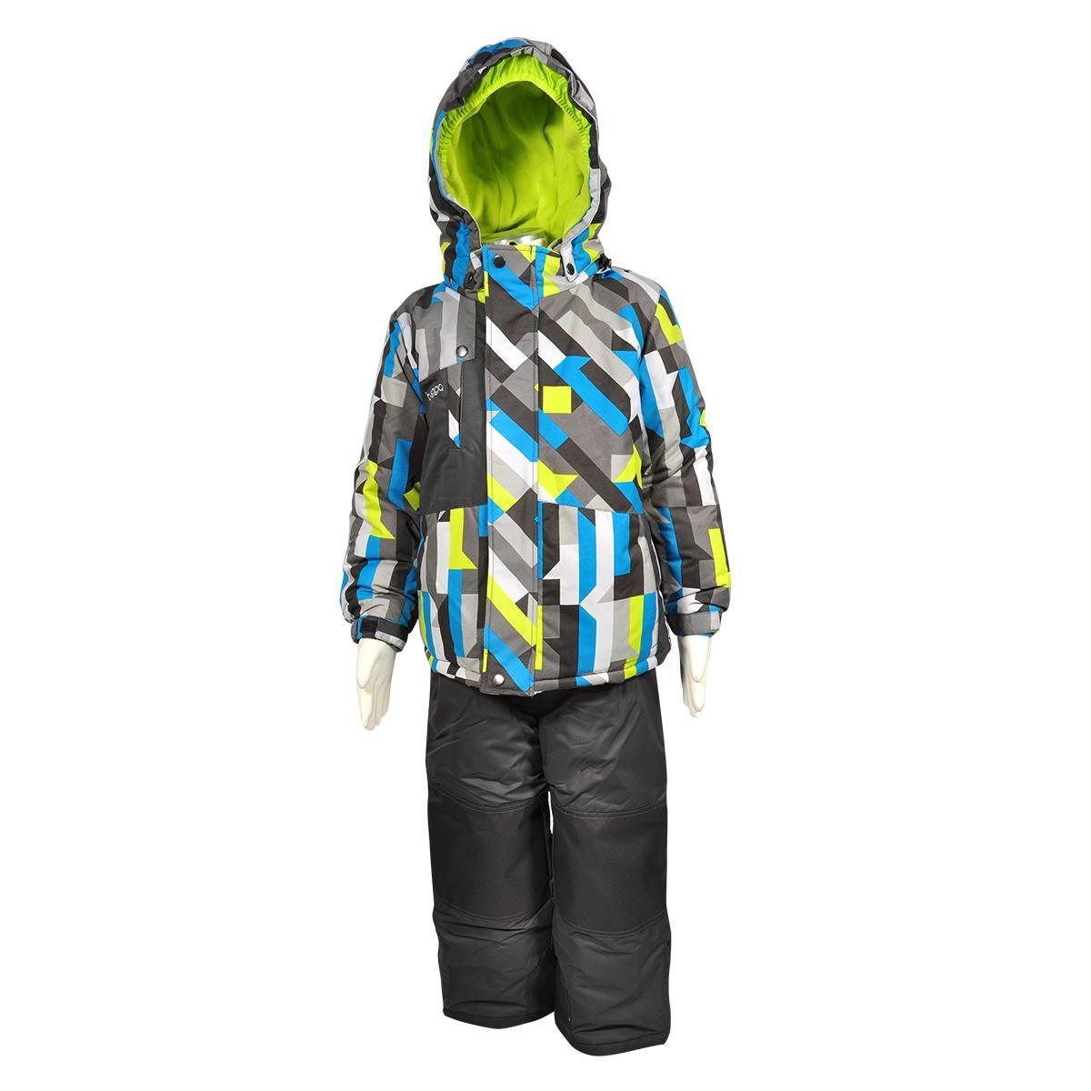 Bugga Chlapecký lyžařský set v moderní barevné kombinaci Bugga Modrá / Černá 152