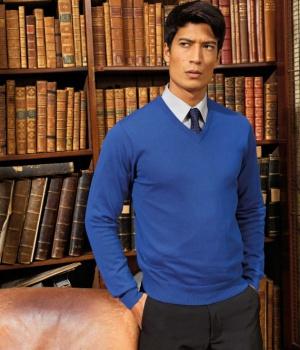 2d298715c6b Pánský svetr s výstřihem do V Premier Workwear (PR694)