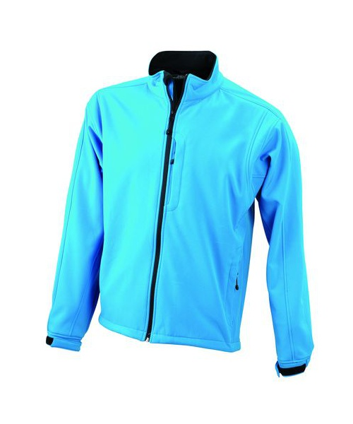 Pextex.cz  - Pánská softshellová bunda James & Nicholson Men's Softshell Jacket - aqua