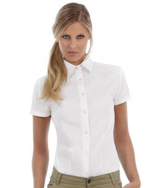 65253ca8174 Pextex.cz - Dámská košile s krátkým rukávem Sharp Twill B C