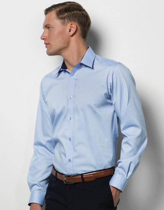 Pextex.cz - Pánská košile s dlouhým rukávem Contrast Premium Oxford Kustom  Kit 75a1e0f8dd