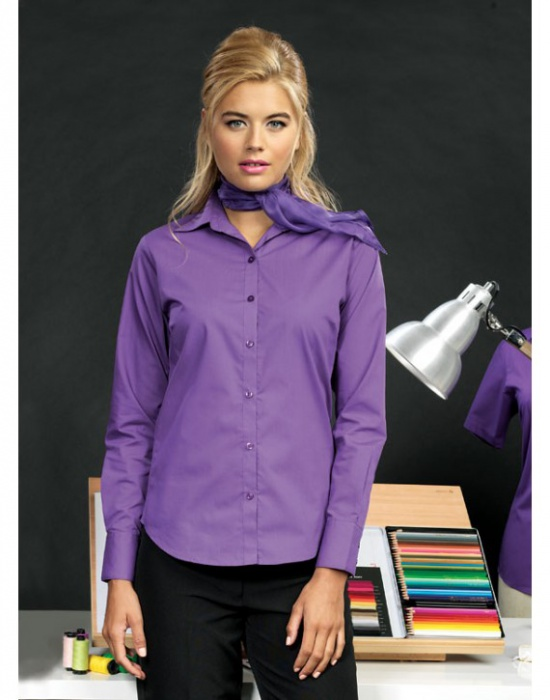 ... Dámská košile s dlouhým rukávem Premier Workwear ... 661bf86f0e